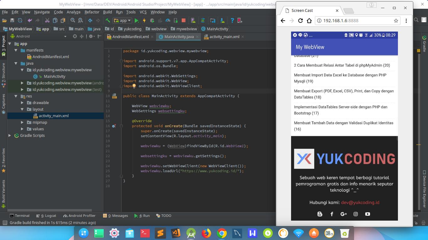 Membuat Apk Webview Dengan Android Studio Yukcoding